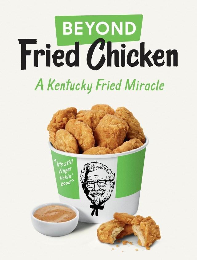 Pollo vegano, la nueva opción para comer en KFC