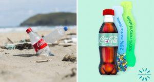 Coca-Cola produce su primera botella de plástico recolectado del mar