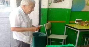 Panchito, el viejito que hace sus entregas de Uber Eats a pie