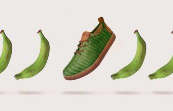 Reciclaje nivel, ya hay zapatos hechos de fibra de plátano y basura