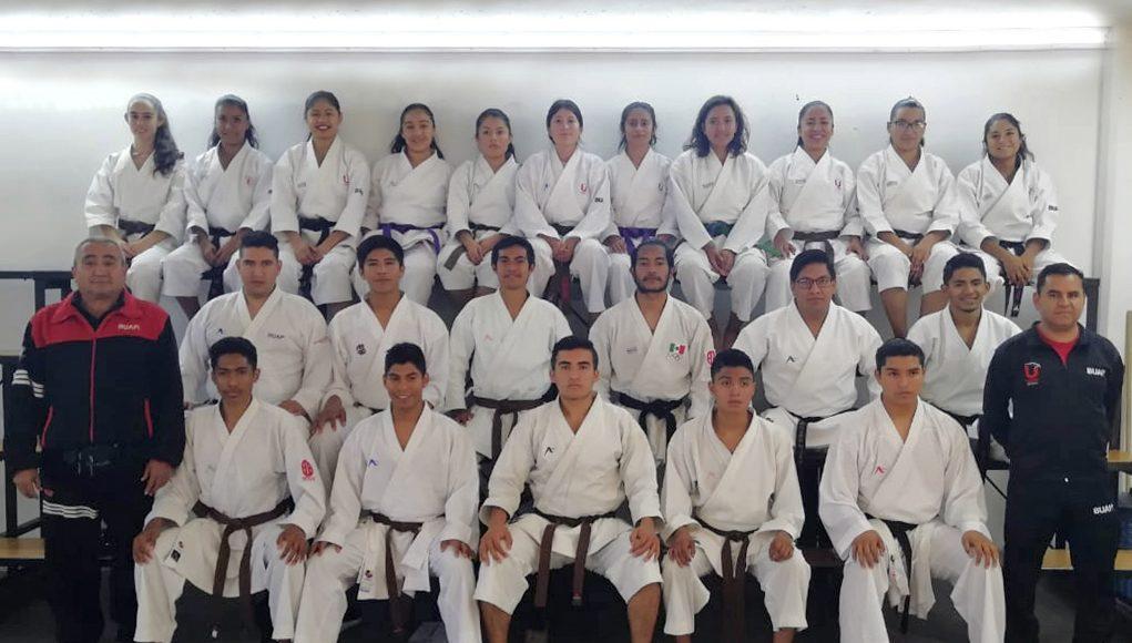 Karate de la BUAP se prepara para tener un año de triunfos