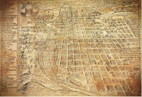 Mapa de Puebla a través del tiempo